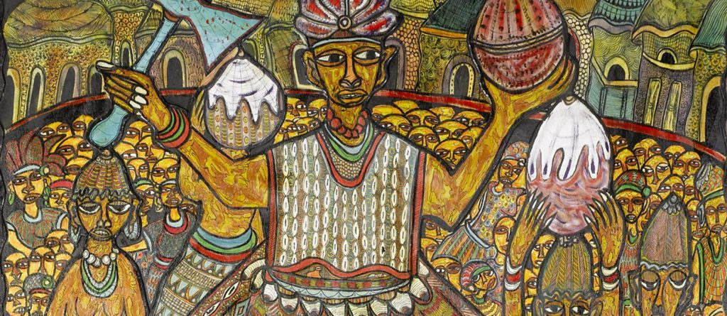 ancient african religious painting