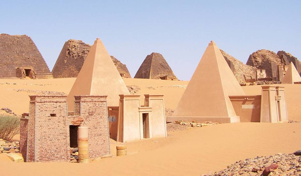 The pyramids of Meroe