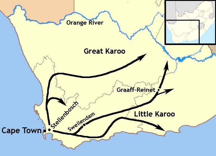 Trekboer Migration Map