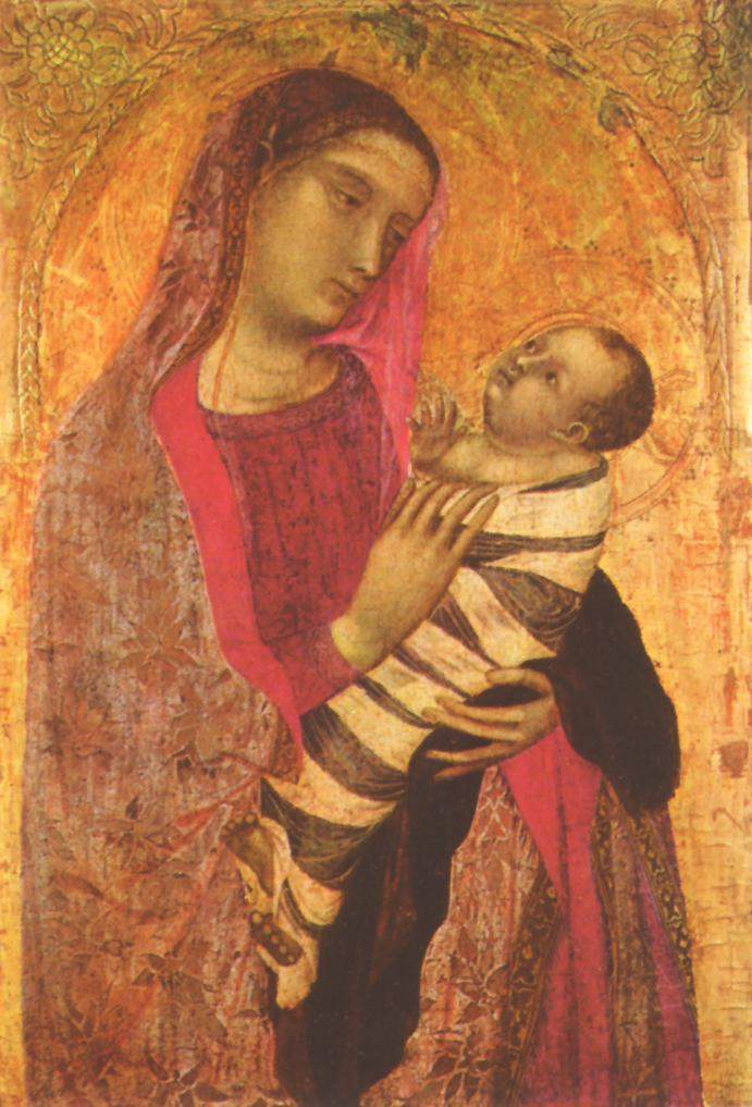 Ambrogio Lorenzettis Madonna And Child