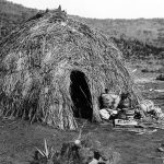 Apache Wickiup Edward Curtis 1903