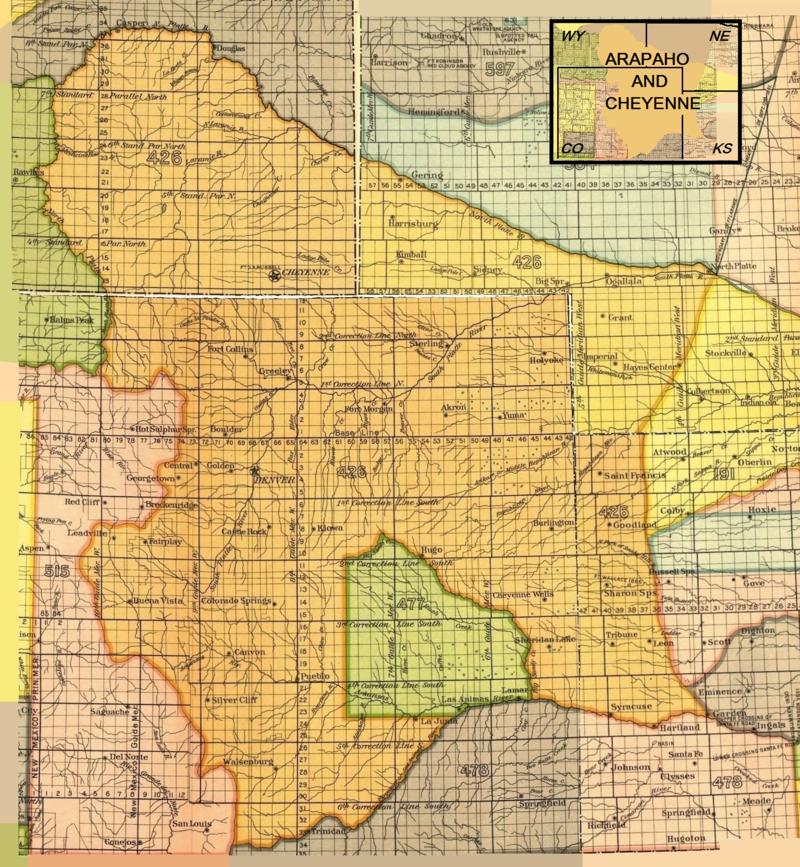 Arapaho And Cheyenne Treaty Territory