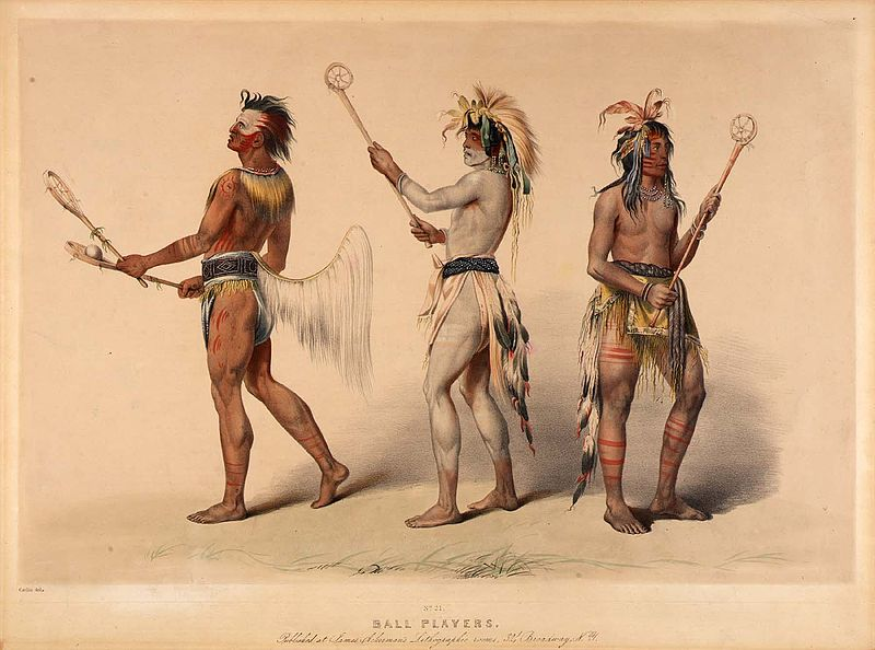 Ball Players From The Choctaw And Lakota Tribe