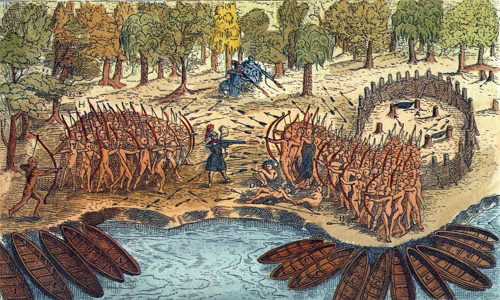 Battle Between Iroquois And Algonquian Tribes