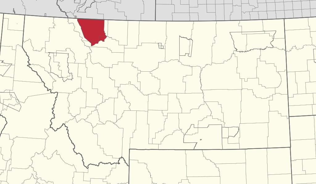 Blackfeet Indian Reservation Locator Map In Montana