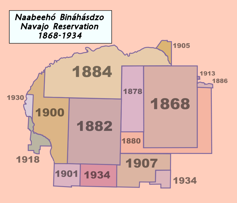 Border Map Changes And Expansions Of The Navajo Reservation