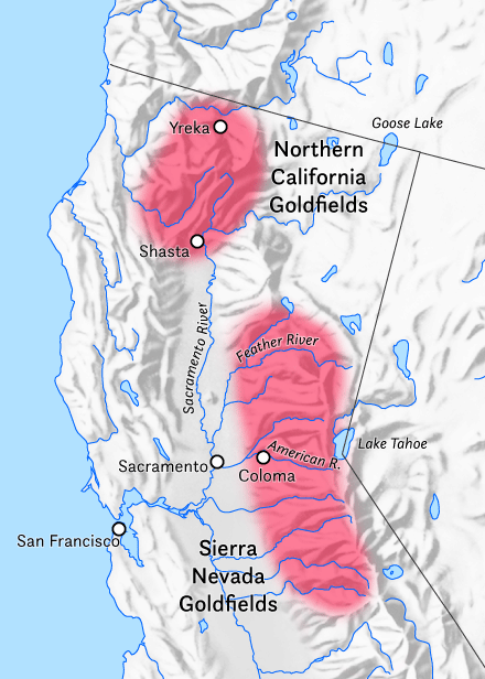California Goldfields Red In The Sierra Nevada And Northern California