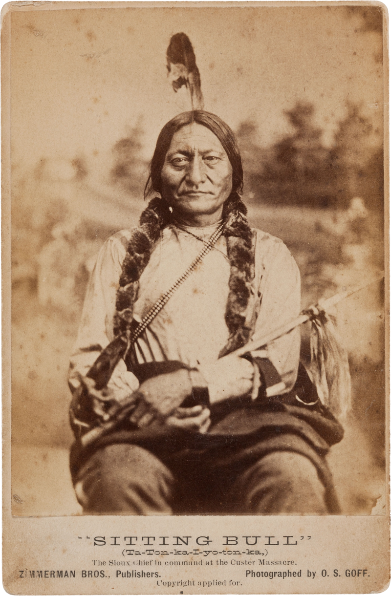 Early Cabinet Card Of Sitting Bull