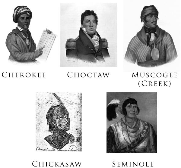 Five Civilized Tribes Portraits