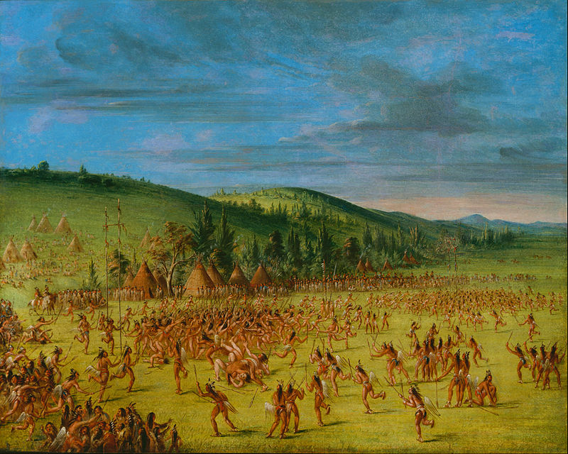 George Catlin Ball Play Of The Choctaw Ball Up Google Art Project