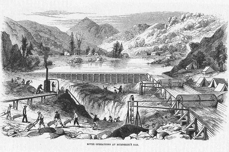Gold Seeking River Operations California