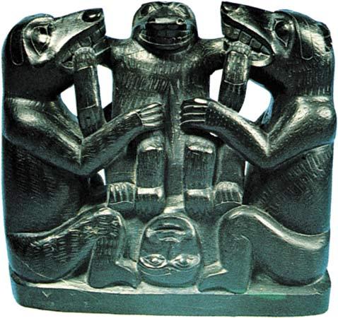 Haida Argillite Carving Folktale Birth Bear Mother