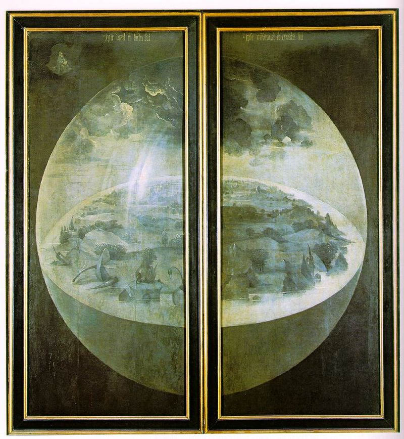 Hieronymus Bosch The Garden Of Earthly Delights The Exterior