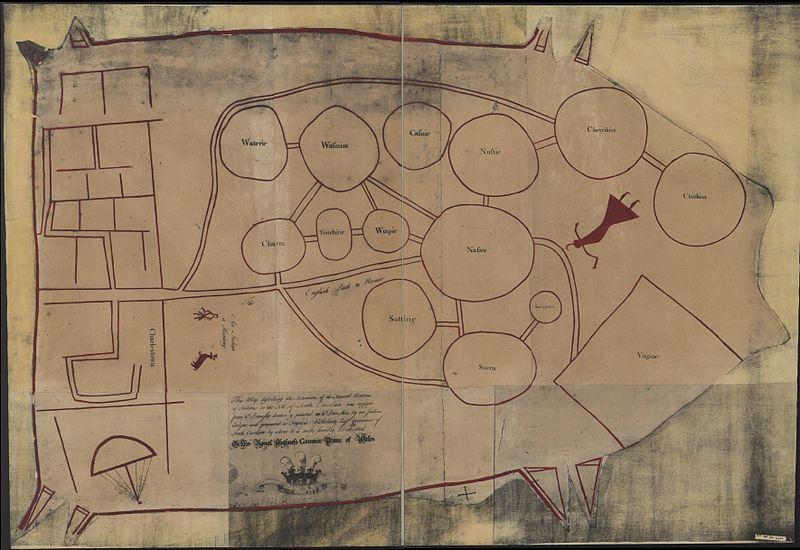 Indians Northwest Of South Carolina Map