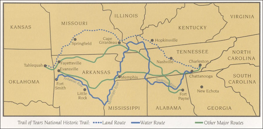 Map Of National Historic Trails