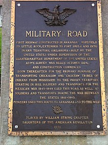 Military Road Marker US