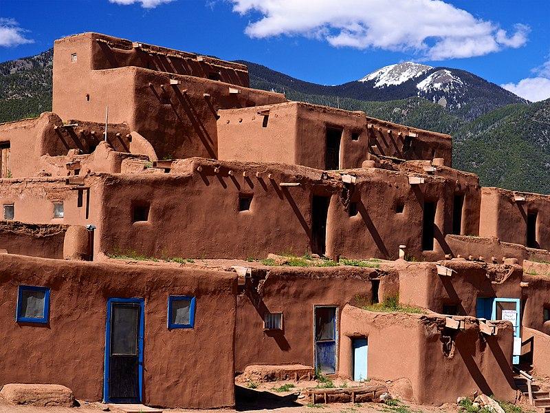 Multi Level Adobe Dwelling Taos Pueblo Taos New Mexico United States