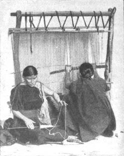 Navajos Spinning And Weaving
