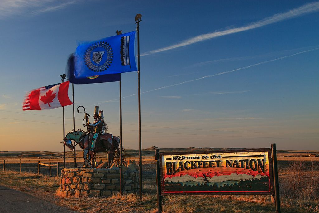 Northern Boundary Of The Blackfeet Nation Indian Sign