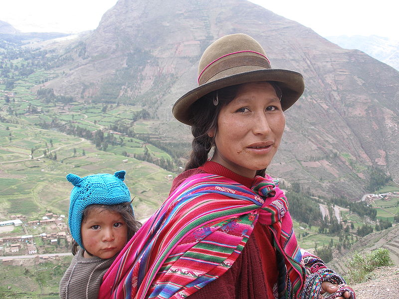 Quechua Woman And Child In The Sacred Valley