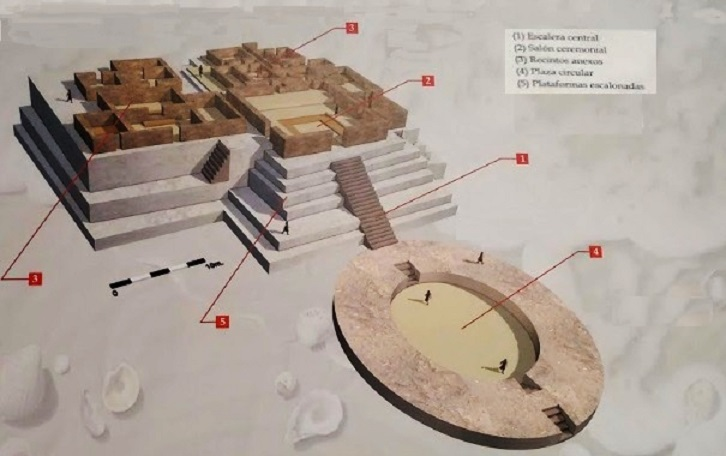 Reconstruction Of One Of The Pyramids Of Aspero