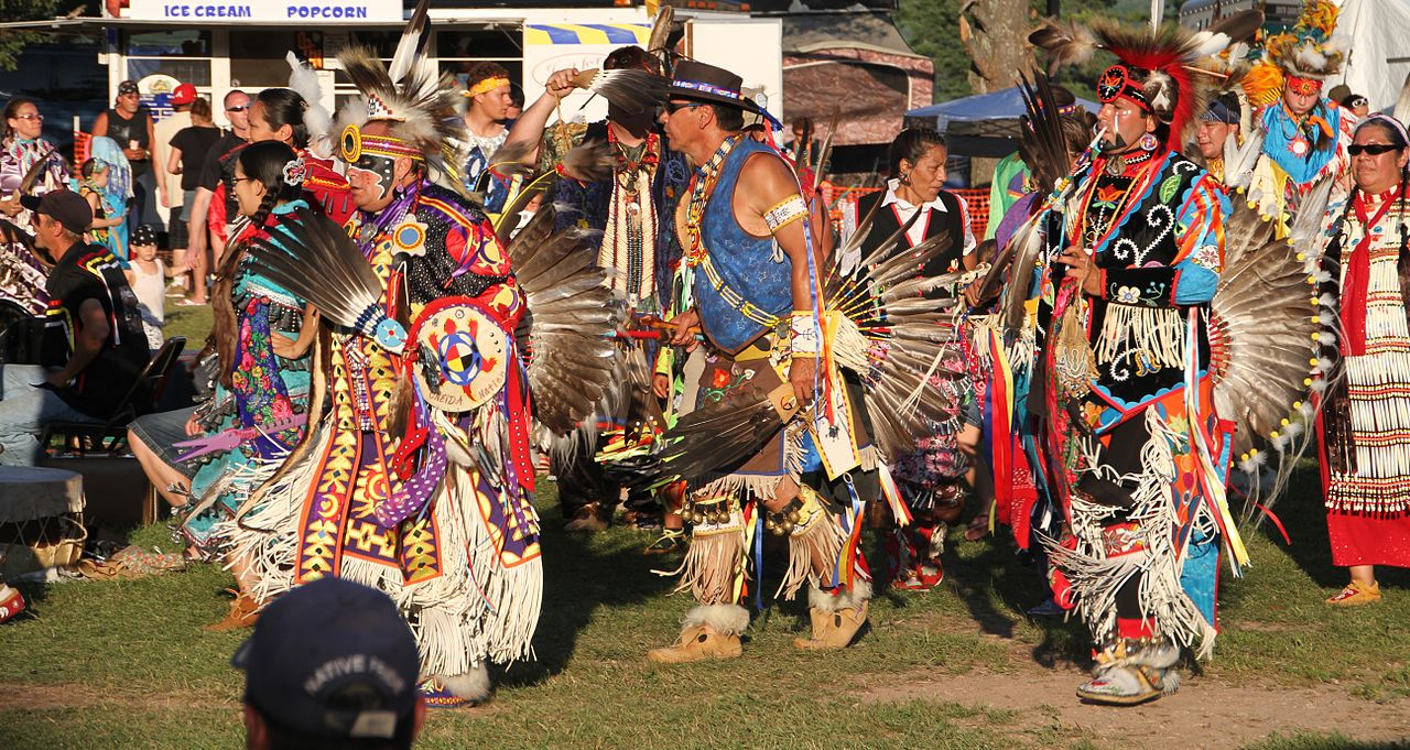Red Cliff Indian Reservation In Wisconsin During Their Annual Pow Wow