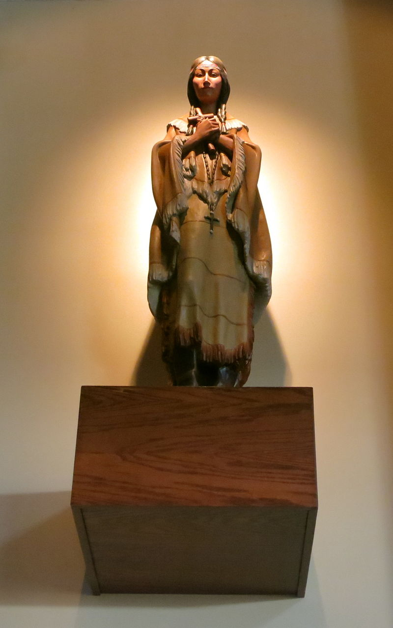 Sait John Neumann Catholic Church Sunbury Ohio Interior Statue Of Saint Kateri Tekakwitha