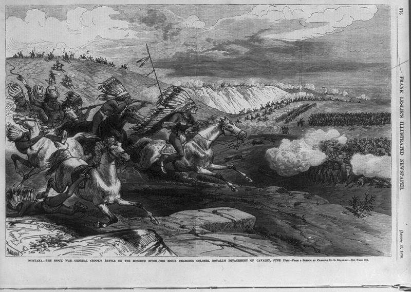 Sioux Charging At Battle Of Rosebud