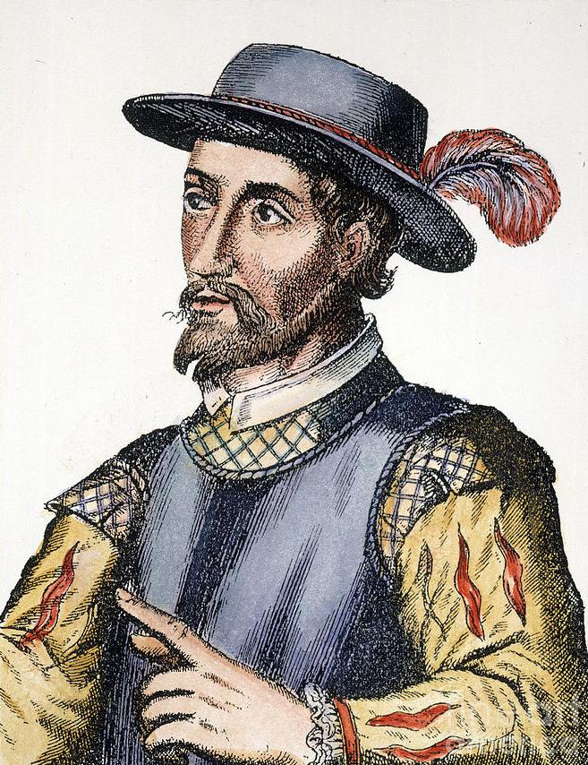 Spanish Engraving Of Juan Ponce De León