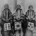 Three Native American Women In Warm Springs Indian Reservation Wasco County Oregon 1902