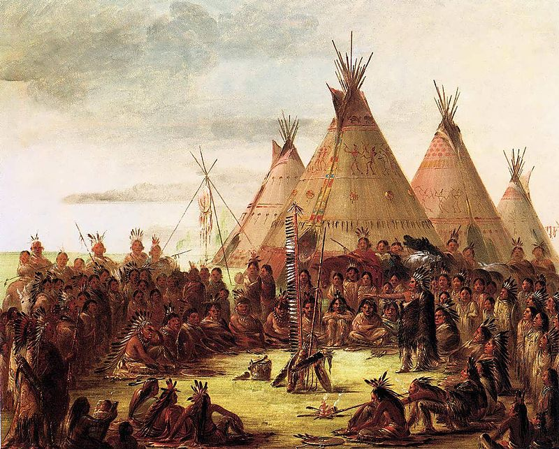 Tipis Painted By George Catlin In The 1830s