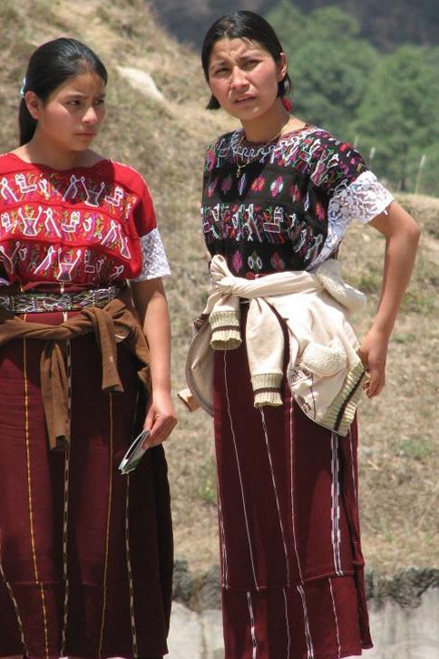 Two Maya Women In The Highlands Of Chiapas