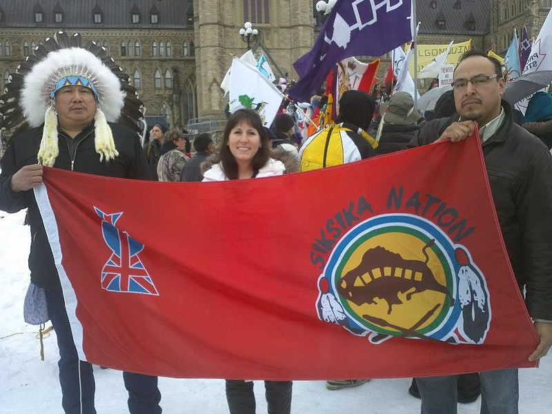 Two Members Of The Siksika Nation From Southern Alberta And A Local Non Aboriginal Supporter In Ottawa