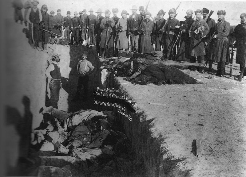 US Soldiers Putting Lakota Corpses In Common Grave