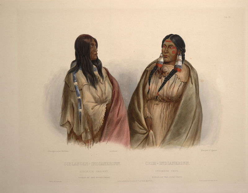 Woman Of The Snake Tribe And Woman Of The Cree Tribe