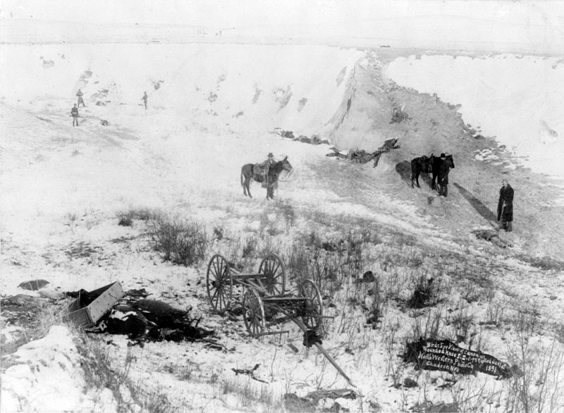 Wounded Knee Scene Dead And Horses