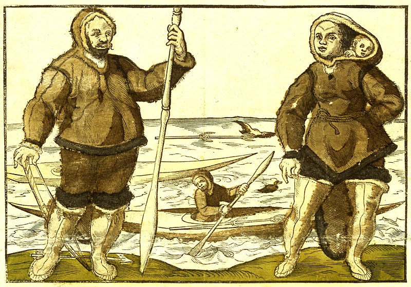 An Anonymous 1578 Illustration Believed To Show Kalicho Left And Arnaq And Nutaaq Right