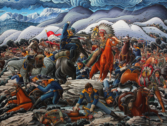 Kim Douglas Wiggins Painting Of The Fetterman Massacre