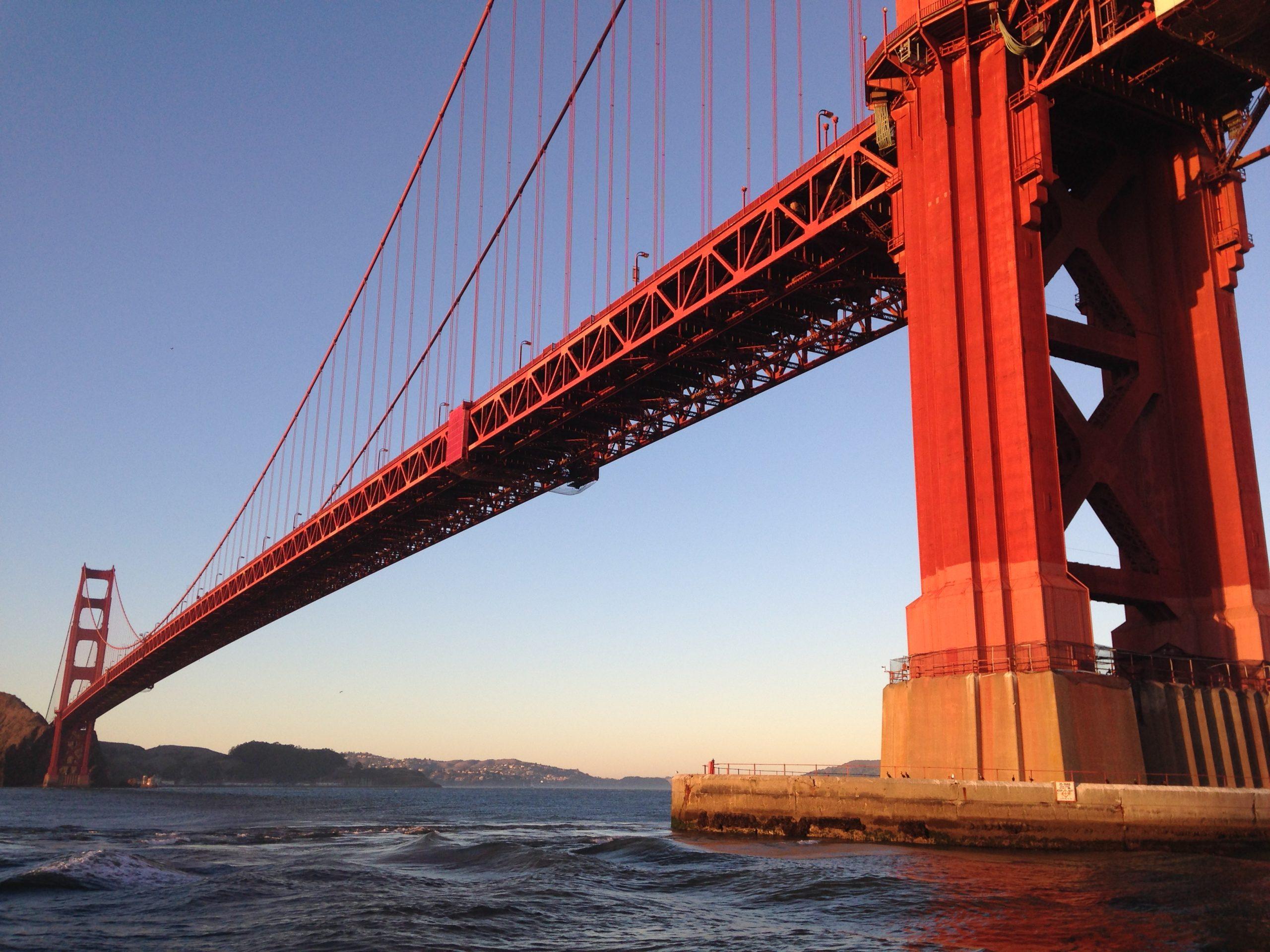 Below Golden Gate Bridge