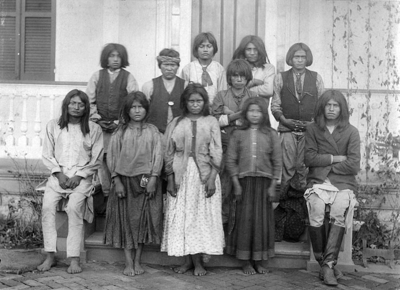 Chiricahua Apaches As They Arrived At The Carlisle Indian School In Pennsylvania