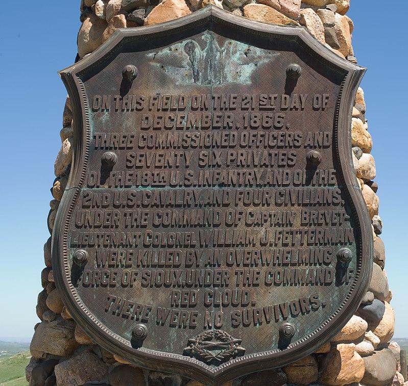 Fetterman Monument On Massacre Hill