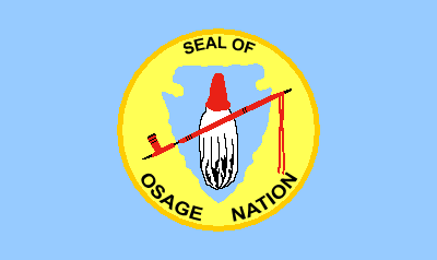 Flag Of The Osage Nation Of Oklahoma