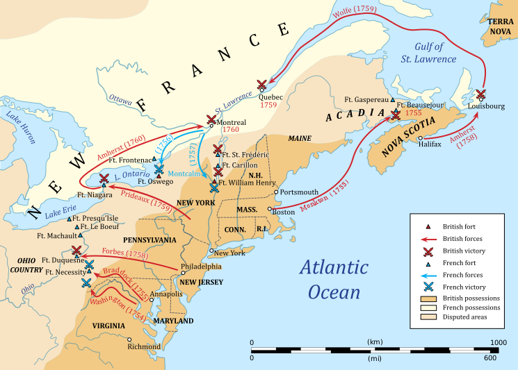 French And Indian War Map