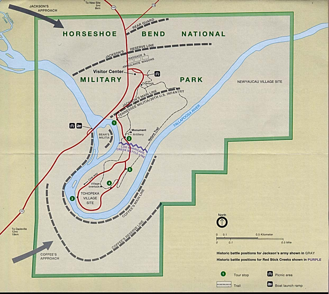 Horseshoe Bend Map