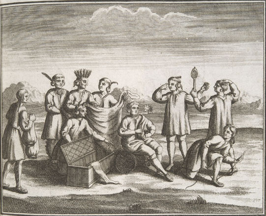 Iroquois Engaging In Trade With Europeans