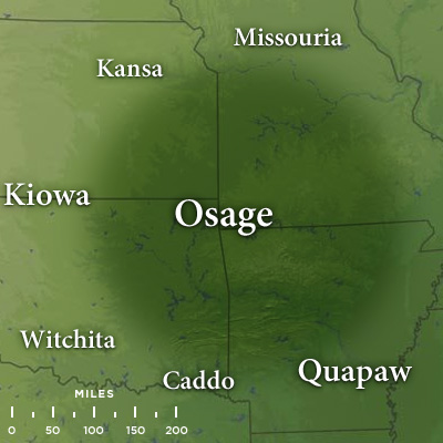 Map Of Traditional Osage Lands