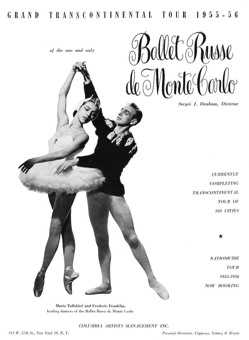 Maria Tallchief In Ballet Russe De Monte Carlo Ad