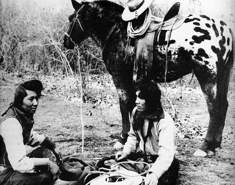Nez Perce Indians With Appaloosa Horse