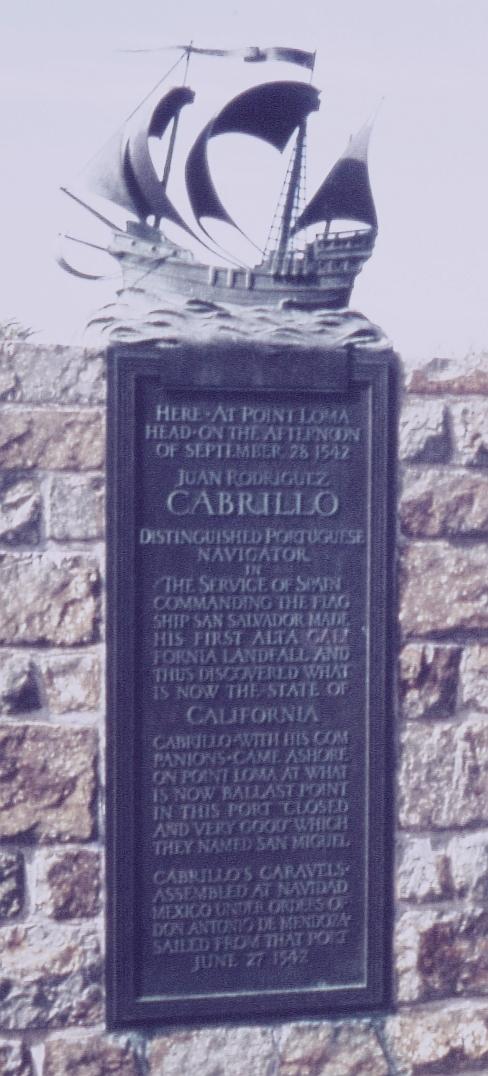 Point Loma Cabrillo Commemorative Plaque