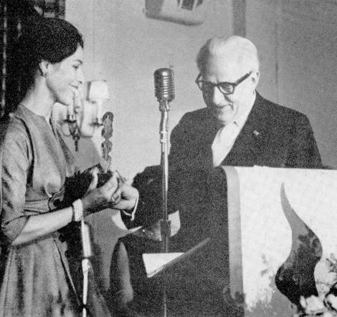Rudolf Orthwine Presenting Maria Tallchief A Dance Magazine Award
